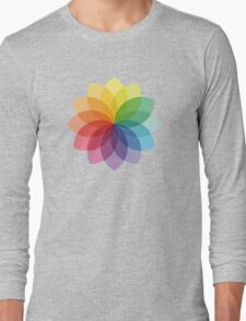 Abstract colorful flower design Long Sleeve T-Shirt