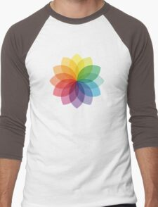 Abstract colorful flower design Men's Baseball ¾ T-Shirt