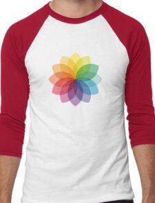 Abstract colorful flower design Men's Baseball ¾ T-Shirt