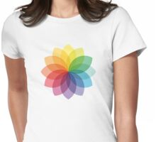 Abstract colorful flower design Womens Fitted T-Shirt