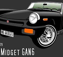 MG Midget 1500 US spec black by car2oonz