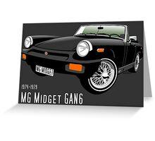 MG Midget 1500 US spec black Greeting Card