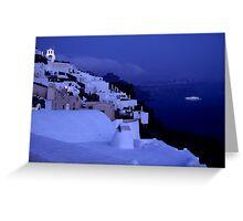 Santorini Nights Greeting Card