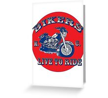 Real Bikers Greeting Card