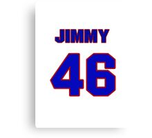 National baseball player Jimmy Myers jersey 46 Canvas Print