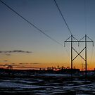 Winter Sunset by AbigailJoy