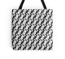 Penguin plaid Tote Bag