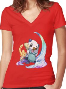 Oshawott Women's Fitted V-Neck T-Shirt
