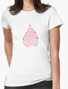 red heart leaf T-Shirt