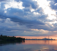 Blue Morning Zen - Toronto Skyline Impressions Sticker