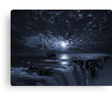 Final Frontier Voyager (FES) The Flat Earth Society Canvas Print