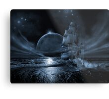 Ghost ship series: Full moon rising Metal Print