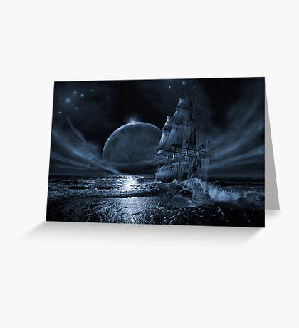 Ghost ship series: Full moon rising Greeting Card