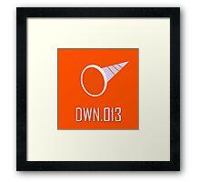 DWN.013 - Crash Man Framed Print