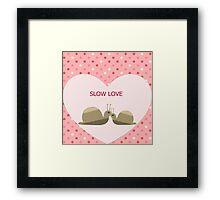 Slow Love Framed Print