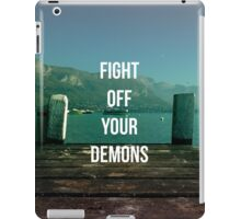 FIGHT OFF YOUR DEMONS - BRAND NEW BAND LYRIC  iPad Case/Skin