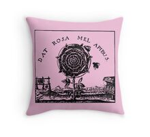 Esoteric Alchemy Renaissance Rose Throw Pillow