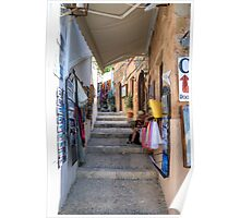 Lindos Alleyway Poster