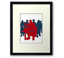 I fight for my friends! Framed Print