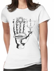 Medieval Alchemy Hand Symbols Womens Fitted T-Shirt