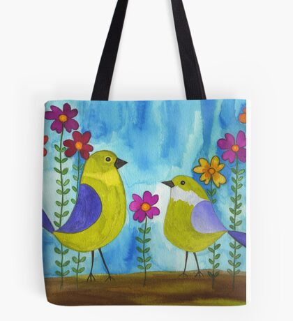 Two Birds Tote Bag