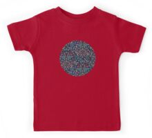 Colored Chalk Floral Doodle Pattern Kids Tee