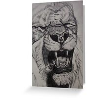 Lion Sketch Greeting Card