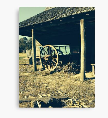 An Old Wagon Canvas Print
