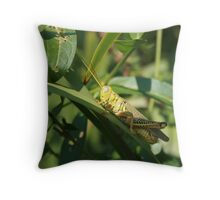 A grasshopper Throw Pillow