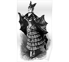 Victorian Bat Girl Costume Poster