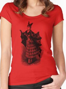 Victorian Bat Girl Costume Women's Fitted Scoop T-Shirt
