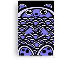 Blue Asian Bear Canvas Print