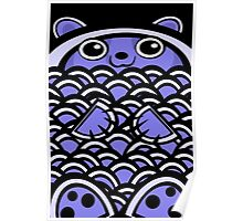 Blue Asian Bear Poster