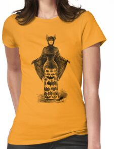 Antique Bat Lady Womens Fitted T-Shirt