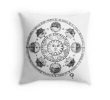 Medieval Astronomical Chart of Planets Throw Pillow