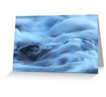 Water over rocks Greeting Card