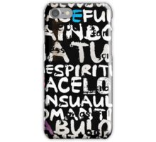 all abut words  iPhone Case/Skin