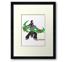 Warcraft | Minimalist Illidan Stormrage  Framed Print