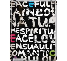 all abut words  iPad Case/Skin