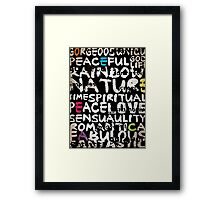 all abut words  Framed Print