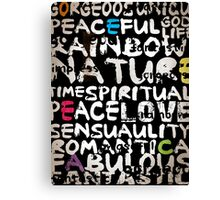 all abut words  Canvas Print