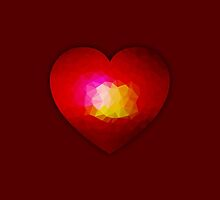 Red burning heart by PLdesign