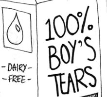 Boy's Tears  Sticker