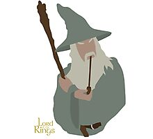 Lord of the Rings | Minimalist Gandalf, the Grey Photographic Print