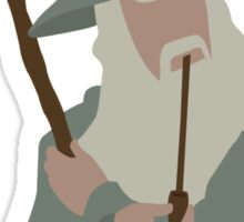 Lord of the Rings   Minimalist Gandalf, the Grey Sticker