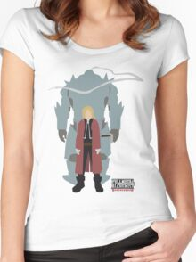 Fullmetal Alchemist Brotherhood | Minimalist Elric Brothers Women's Fitted Scoop T-Shirt