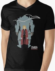 Fullmetal Alchemist Brotherhood | Minimalist Elric Brothers Mens V-Neck T-Shirt