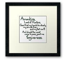 Thane's Prayer to Amonkira Framed Print