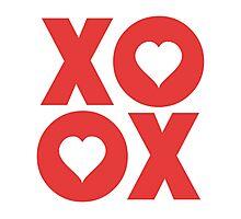 XOXO Hugs and Kisses Valentine's Day Photographic Print