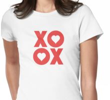 XOXO Hugs and Kisses Valentine's Day Womens Fitted T-Shirt